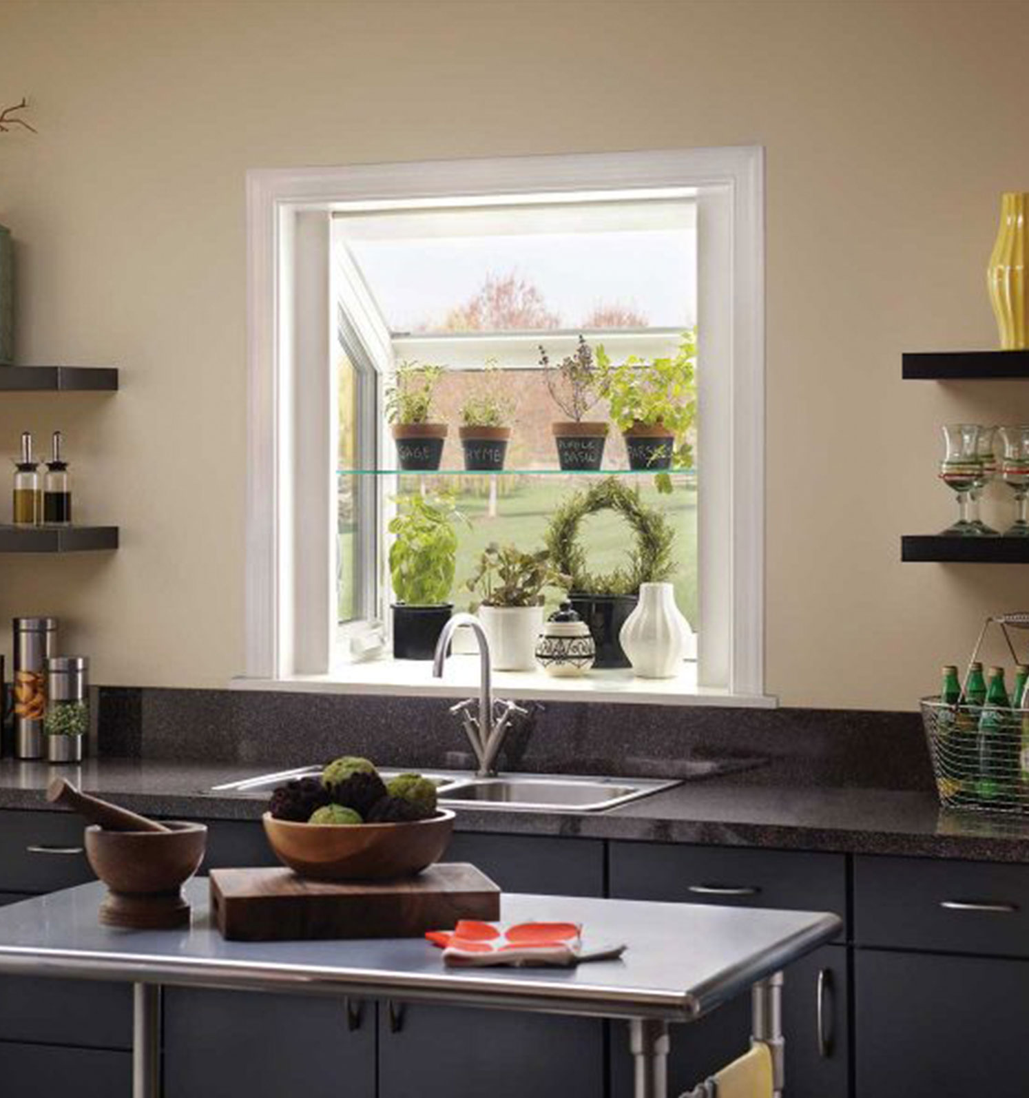To add a touch of class to your home consider garden windows by The Folding Door Store to create small gardens inside.