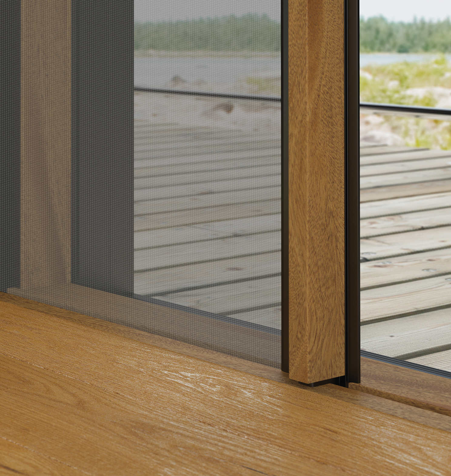 Screen doors installed by The Folding Door Store let in light and the outside and can be installed in your home.