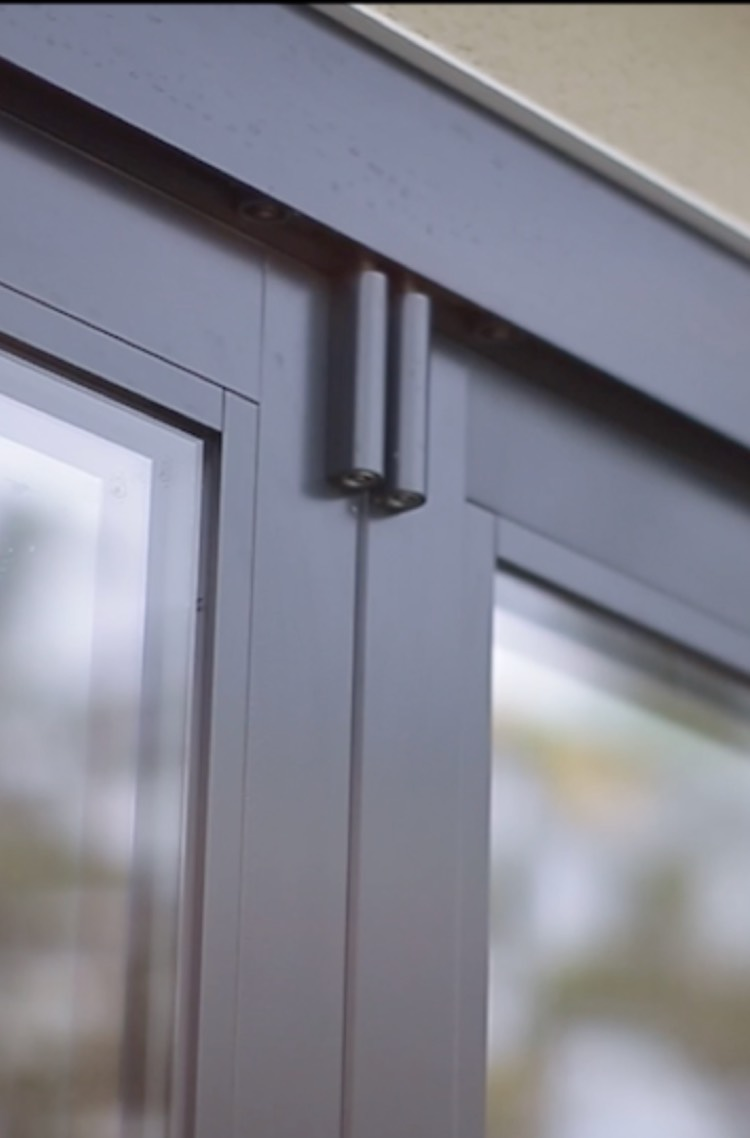 Close-up view of a folding door from The Folding Door Store in Southern California.
