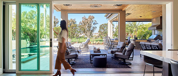 Bring the outdoors indoors with the amazing sliding glass doors installed by The Folding Door Store in California.