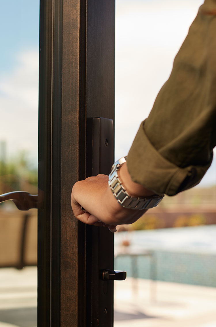Beauty and security come with sliding glass doors installed by The Folding Door Store in your home today.